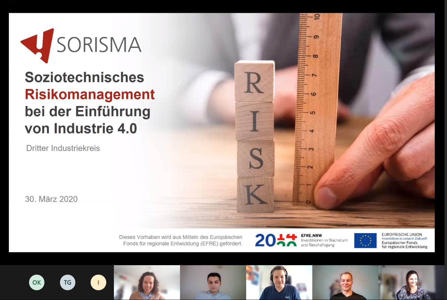 Das SORISMA Team arbeitet in Zeiten von COVID19 weiter – aber virtuell